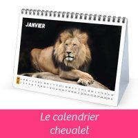 Calendrier personnalisé, calendrier chevalet, cadeau de fin d'année